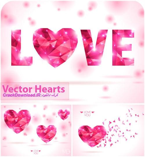 دانلود وکتور قلب فوق العاده زیبا: Vectors Hearts