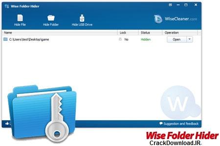 پنهان سازی فایل و فولدرها Wise Folder Hider 1.53.81