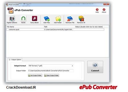 تبدیل فرمت اسناد epub با نرم افزار ePub Converter 2.7.109.352